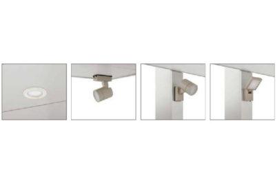 埋め込み式ライトや防犯カメラなど、カーポートSCのオプション類