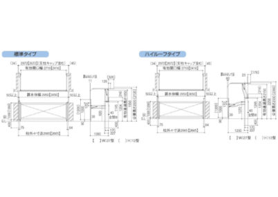 跳ね上げゲート オーバードアS2型(電動) 図面