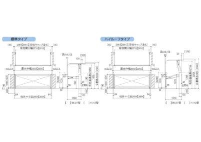 跳ね上げゲート オーバードアS5型(手動) 図面