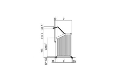 ゴミ収納箱PA型図面02
