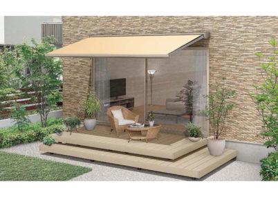 テラス屋根彩風c型/S型施工見本画像