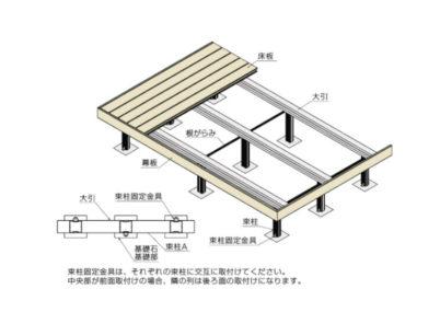 ウッドデッキ樹ら楽ステージ木彫図面04
