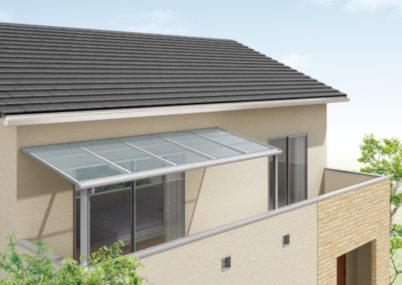 スピーネFR型バルコニー屋根施工見本画像