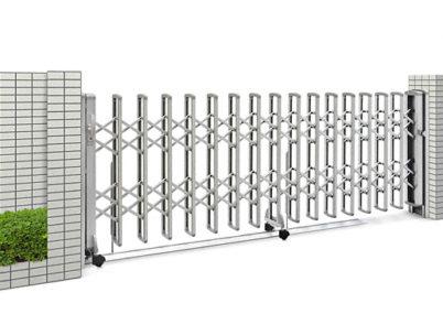 全体画像2型両開き伸縮ゲート YKKAP