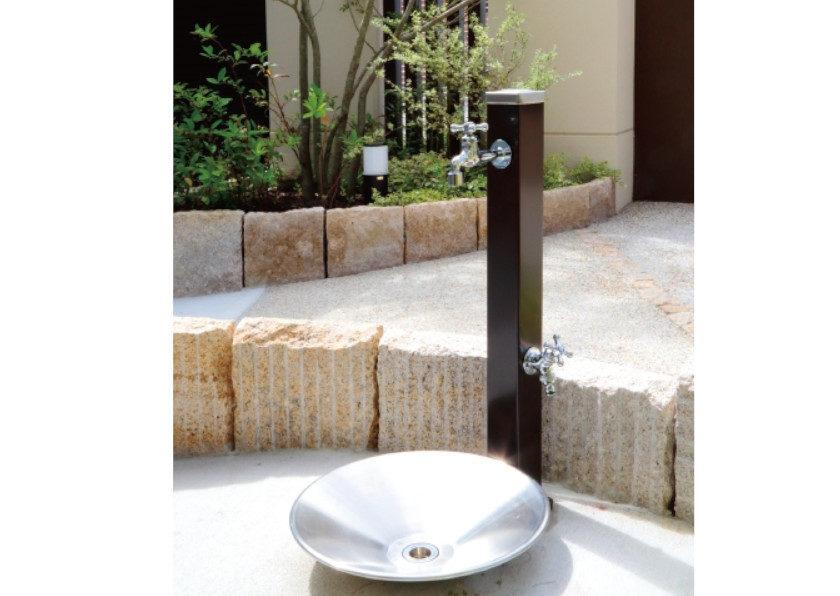 立水栓スプレスタンド70(蛇口2個)施工見本画像01