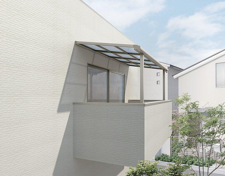リクシルのスピーネF型造り付け屋根タイプ、シャイングレー仕様。