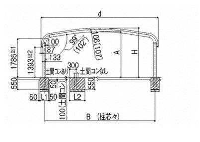 図面画像 ワイド縦連棟 テールポートシグマIII LIXIL