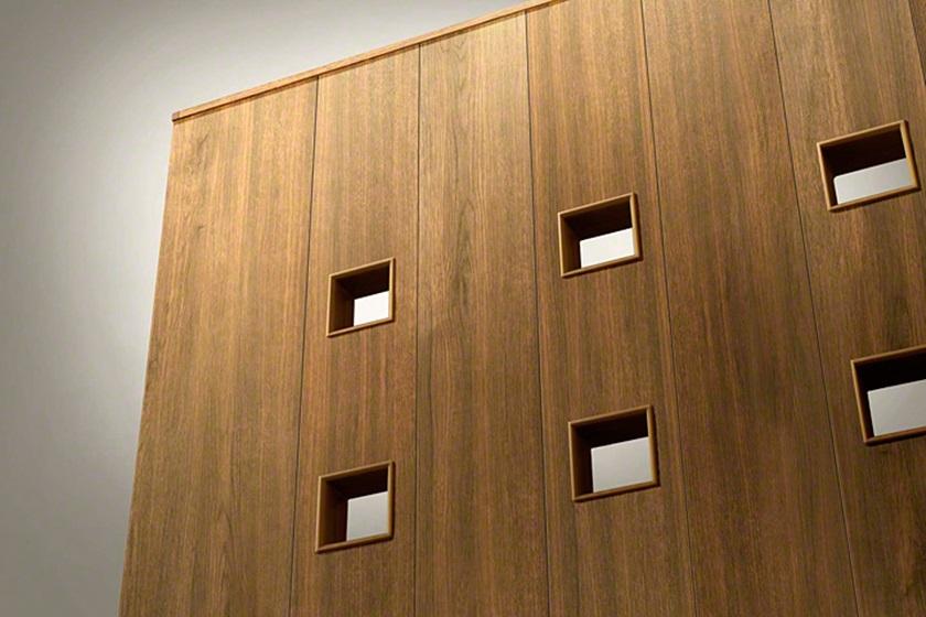 拡大画像木調 ルシアス門扉AK01型 小窓 片開きYKKAP
