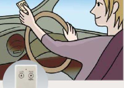 雨の日も車の中らかでも開閉できるリモコン付です。