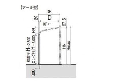 図面ソラリア アール型YKKAP