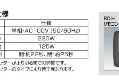 リモコン詳細画像TWタイプシャッターフェアポート 2台用四国化成