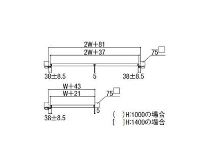 図面画像 ダイヤ格子 片開きライシス門扉 8型 LIXIL