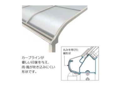 屋根拡大画像ソラリア アール型YKKAP