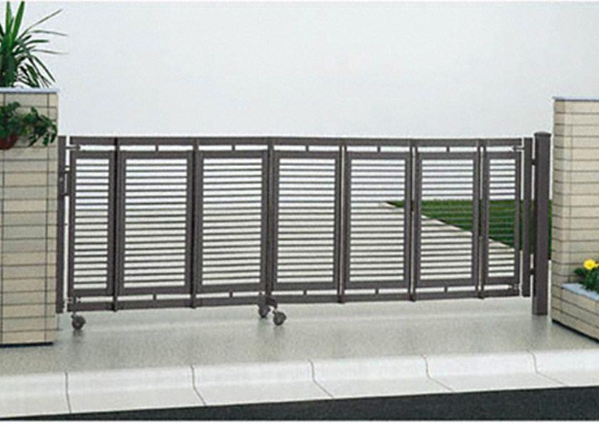 片開き エクスライン伸縮ゲート1型 ノンレール YKKAP