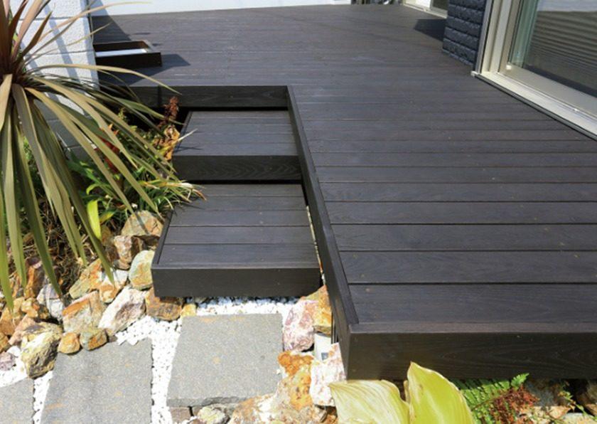 天然木タンモクアッシュデッキセット無塗装床板TAKASHO