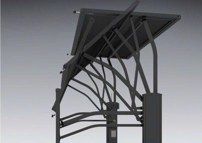 ゲート見本画像3型 横太格子 手動ルシアスアップゲートワイドYKKAP