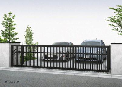 カームブラック4型 たて太格子 手動 ルシアスアップゲートワイド YKKAP