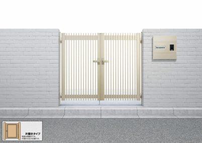 シンプレオ門扉T1型 縦格子 片開きYKKAP