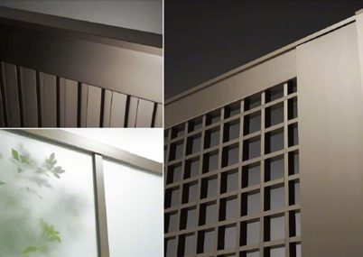 拡大画像 7型 井桁格子 片開きライシス門扉
