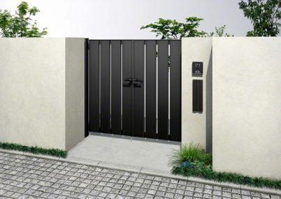 両開きルシアス門扉AS01型 たてスリットYKKAP