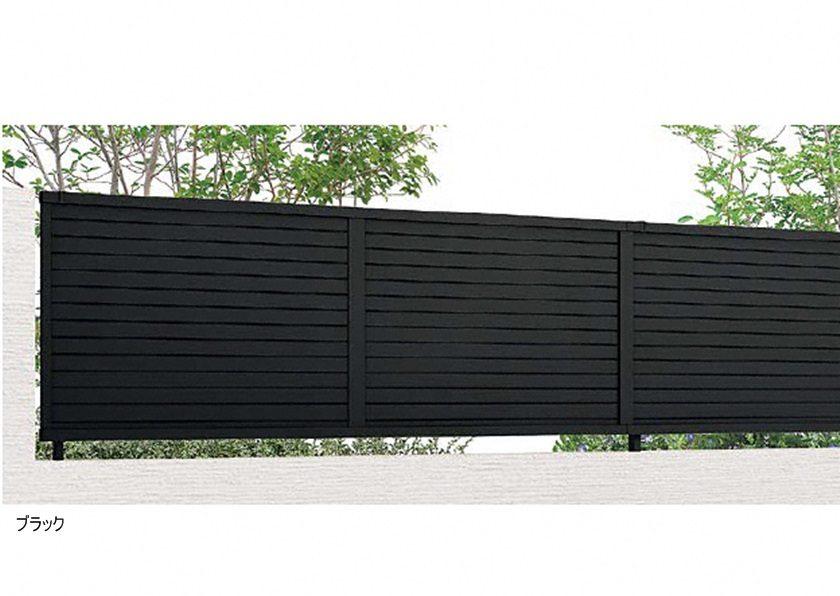 ブラック YM2型 横目隠し2 フェンスAB LIXIL
