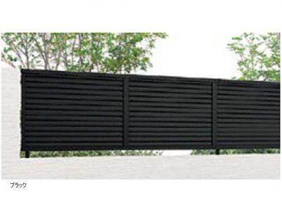 ブラック YL3型 横ルーバー3フェンスAB LIXIL