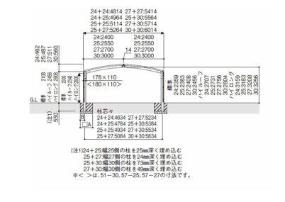 図面画像 M合掌積雪50cm対応 レイナポートグラン50 YKKAP