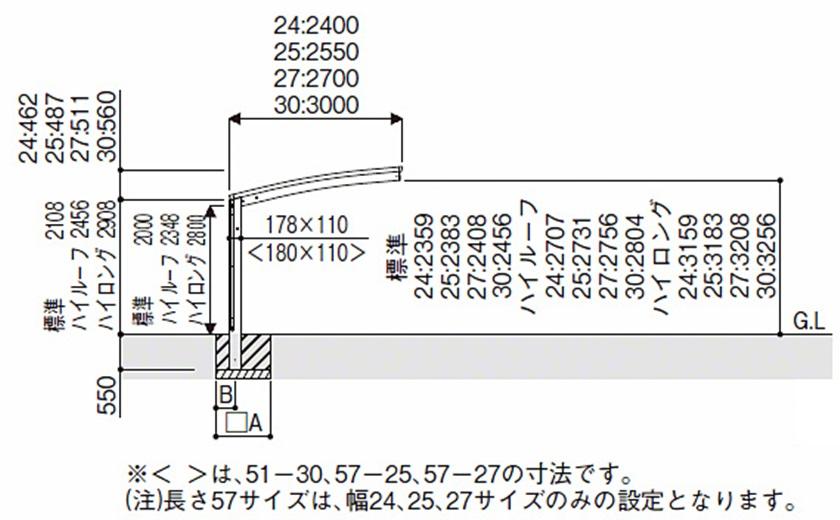 図面画像 積雪50cm対応レイナポートグラン50YKKAP