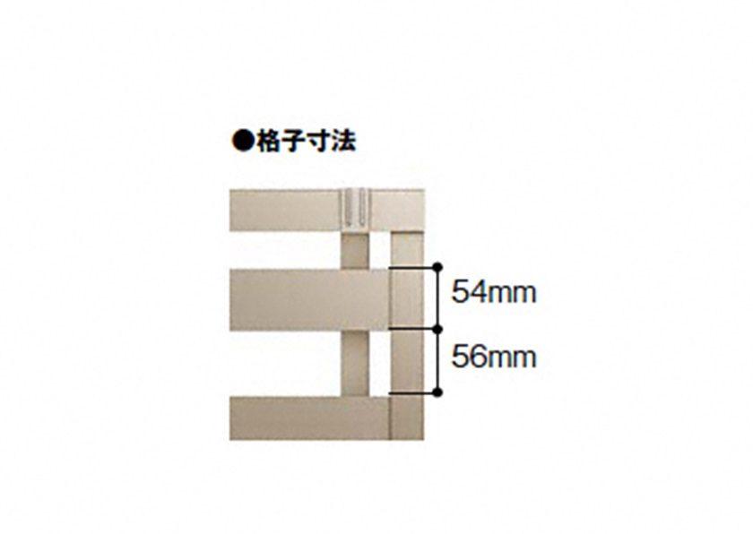 寸法画像 YR3型 横格子3フェンスAB LIXIL