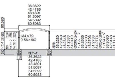 図面画像 YKKAP レイナツインポートグラン 延長