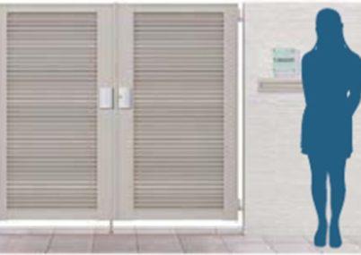 防犯効果を高めるH16サイズの門扉をご用意しています。 さらに目隠し率の高いデザインなら、外かれあの視線をカットして、プライバシーも確保できます。