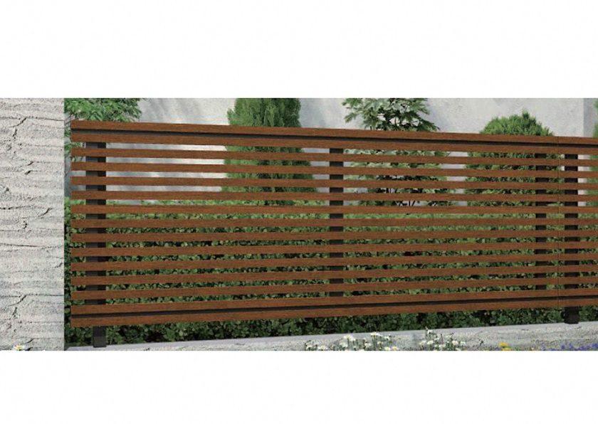木調 H09型 横板+細横格子 ルシアスフェンス YKKAP