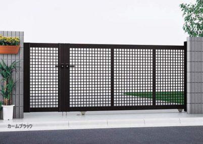 カームブラック 引戸3型 開き戸付きタイプ エクスライン YKKAP