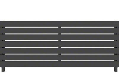 カームブラック H02型 横板格子 ルシアスフェンス YKKAP