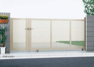 プラチナステン 1型 開き戸付きタイプ エクスライン引戸 YKKAP