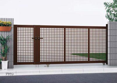 ブラウン 引戸3型 開き戸付きタイプ エクスライン YKKAP