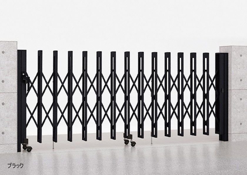 ブラック M型 Aタイプ ノンレール 片開き アルシャインII LIXIL