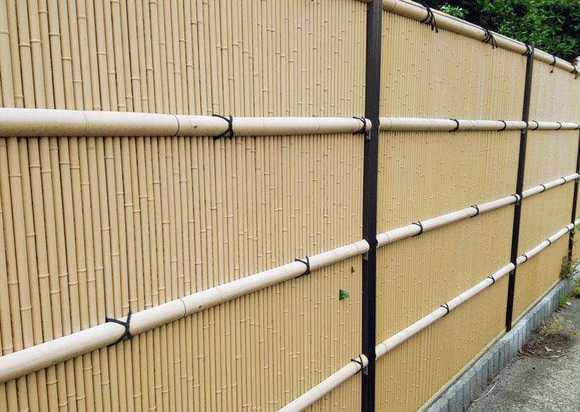 竹垣 純和風の家屋に似合う日本古来の伝統的なフェンス