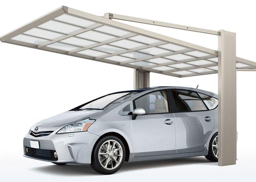 ダイナミックな吊り下げ式タイプのカーポート「アーキフラン」