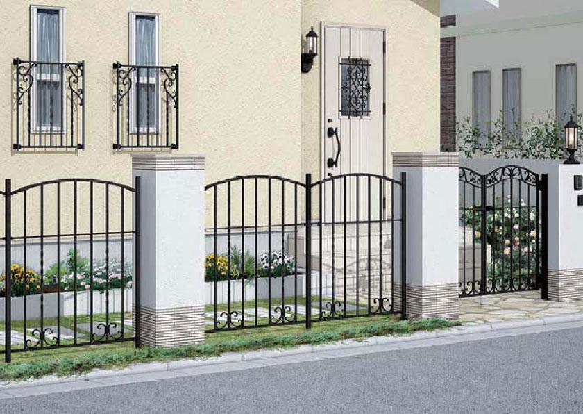 鋳造フェンス 高級感のあるデザインが特徴の洋風フェンス