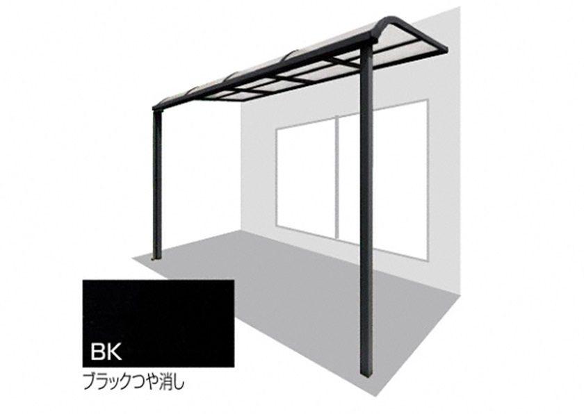 ブラックつや消し 四国化成 バリューテラスE R型 屋根タイプ 単体