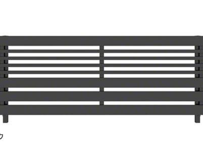 カームブラック H04型 横板+細横格子 ルシアスフェンス YKKAP