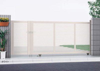 ホワイト 1型 開き戸付きタイプ エクスライン引戸 YKKAP