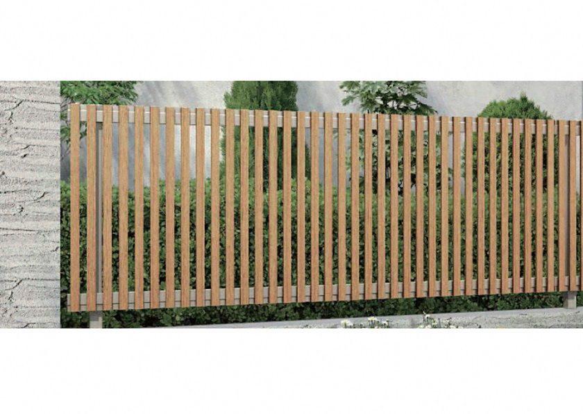 木調 H08型 縦板+細縦格子 ルシアスフェンス YKKAP