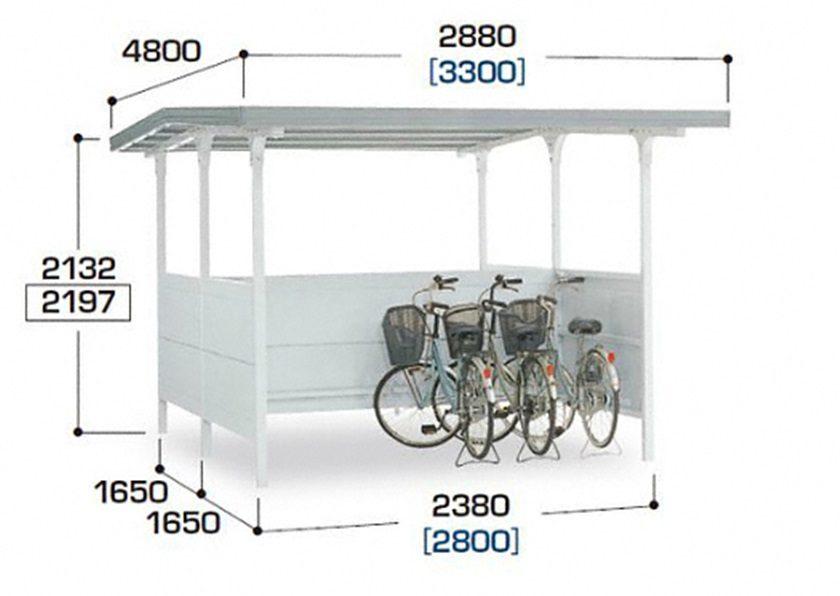 図面画像 BF棟合わせタイプ 独立タイプ 一般型イナバ自転車置場 イナバ物置