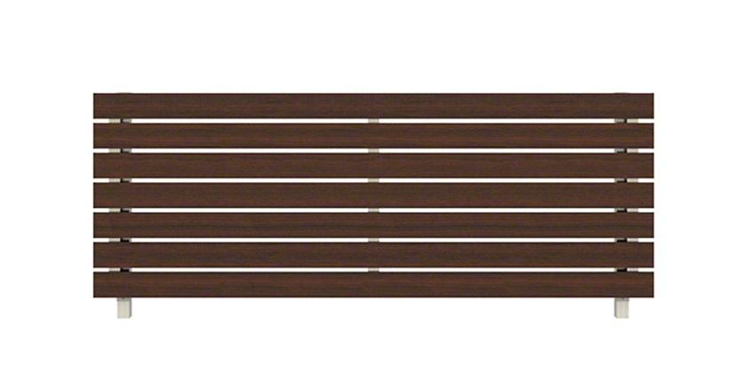 ショコラウォールナット 木調 H02型 横板格子 ルシアスフェンス YKKAP
