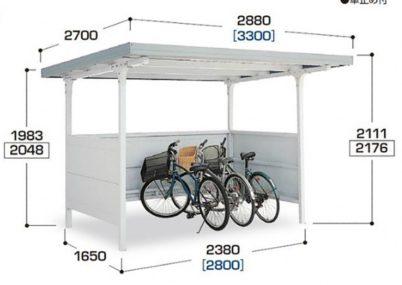 図面画像 BFタイプ 独立タイプ 一般型イナバ自転車置場