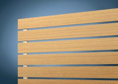 フェンス拡大画像 木調 H02型 横板格子 ルシアスフェンス YKKAP