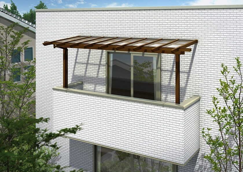 YKKAP サザンテラス (パーゴラ仕様) 屋根タイプ 単体