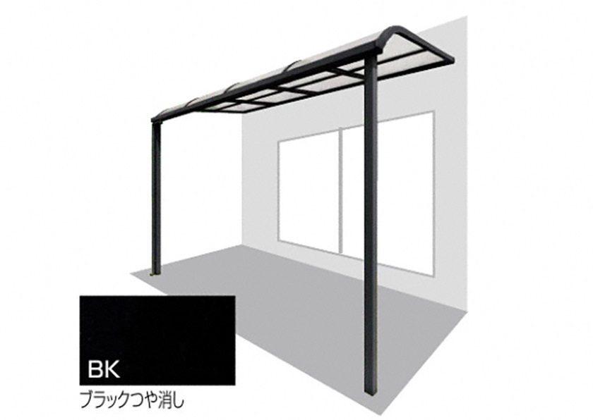 ブラックつや消し バリューテラスE F型 屋根タイプ 単体 四国化成